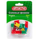 Кнопки силовые для пробковых досок Набор 25 штук Attache пластиковые цветные флажки ассорти металлическая игольчатая ножка 24 мм